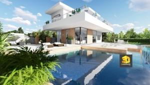 perspective extérieure villa 2