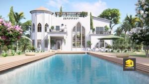 perspective extérieure villa de luxe 3